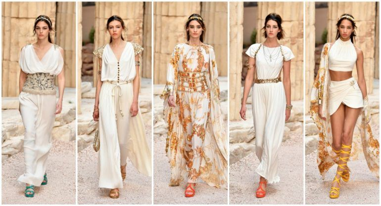Chanel revive la antigua Grecia en pasarela