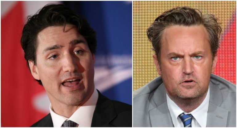Justin Trudeau le pide revancha a Matthew Perry