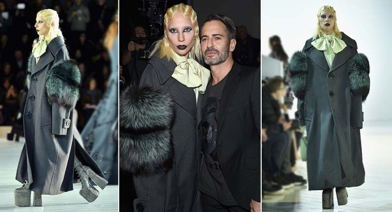 Lady Gaga desfila para Marc Jacobs en el cierre del Fashion Week NY