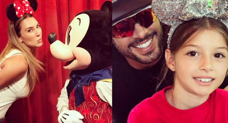 Las vacaciones de William Levy y Elizabeth Gutiérrez en Disney