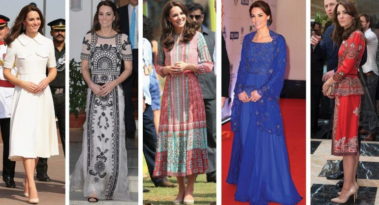 Los looks de Kate Middleton en su paso por India