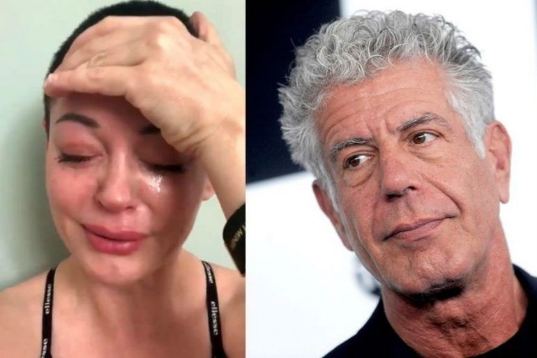 Rose McGowan anthony bourdain